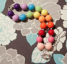 Over The Rainbow Kids Chunky Necklace- Birthday - Dress Up- Photo prop- children's accessory