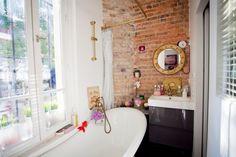 brickwork in bathroom