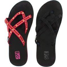 7eb536cb0fbbc7 Teva olowahu bundle 2 pack mix black on black diago pink. Teva Flip FlopsTired  ...
