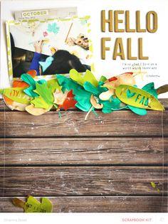 Hello Fall by ShannaNoel at @studio_calico - painted die cut leaves