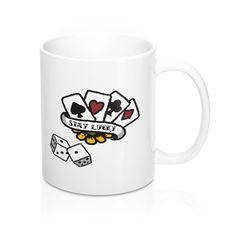 Wish someone good luck with this stylish 'Stay Lucky' mug. Good Luck Gifts, Mugs, Stylish, Tableware, Dinnerware, Tumblers, Tablewares, Mug, Dishes