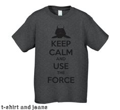 Keep Calm and Use the Force Darth T-Shirt - Men's / Teen Graphic  T-Shirt. $18.00, via Etsy.