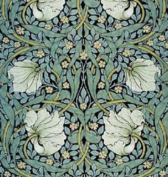 William Morris, detail of Pimpernel wallpaper, 1876. In The Victoria and Albert Museum, London.
