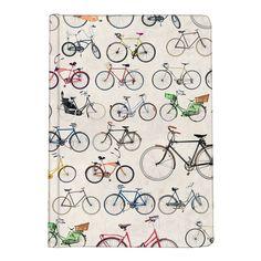 Bicycle print journal by Ella Doran