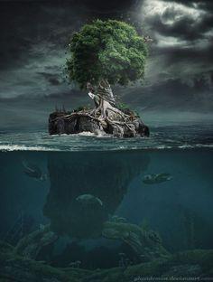 Картинки по запросу one tree surreal