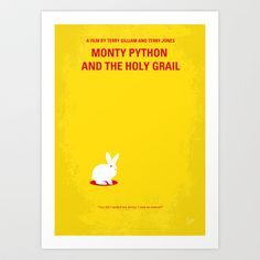 My+MONTY+PYTHON+AND+THE+HOLY+GRAIL+minimal+movie+poster+Art+Print+by+Chungkong+-+$18.00