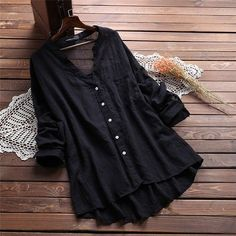 Casual V Neck Pure Color Blouses for Women can cover your body well, make you more sexy, Newchic offer cheap plus size fashion tops for women Mobile. Look Fashion, Trendy Fashion, Plus Size Fashion, Girl Fashion, Fashion Trends, Latest Fashion, Spring Fashion, Fashion Online, Womens Fashion