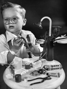 Toy Dentistry set from the 50s