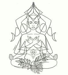 Very powerful illustration Visit my 'high vibe' board for beautiful energy inspiration 💎 Tattoo Drawings, Body Art Tattoos, Art Drawings, Tatoos, Moon In Aquarius, Realistic Pencil Drawings, Geniale Tattoos, Zodiac Art, Future Tattoos