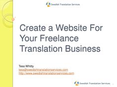 Why do we need a website for our freelance translation business?