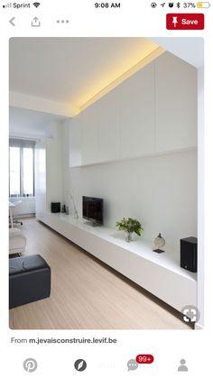Living Hall, Boho Interior, Interior, New Homes, Ikea Interior, Tv Wall Design, Wall Unit, Lounge Room, Gray Interiors