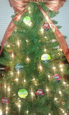 Country boy n girls Xmas tree....We collected skoal cans from everyone we knew and popped the disks out to decorate our tree last year...we plan to do it again.