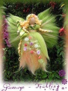 Gwanwyn Spring Fairy needle felted and waldorf by LivelySheep, €19.00
