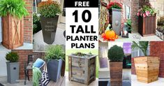Wooden planter boxes are a staple in most gardens at some point in time or another. Planter boxes are on sale everywhere as soon as Read Tall Planter Boxes, Square Planter Boxes, Diy Wood Planters, Planter Box Plans, Face Planters, Wood Planter Box, Planter Ideas, Planters Flowers, Pots