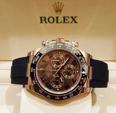Modern Watches, Stylish Watches, Luxury Watches For Men, Cool Watches, Rolex Watches, Black Rolex, Gold Rolex, Rolex Daytona Stainless Steel, Rolex Daytona Watch