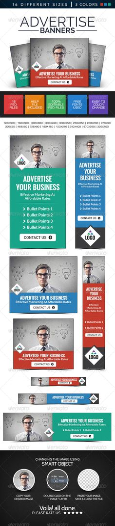 Advertise Here Banners Template PSD | Buy and Download: http://graphicriver.net/item/advertise-here-banners/8644771?WT.ac=category_thumb&WT.z_author=doto&ref=ksioks