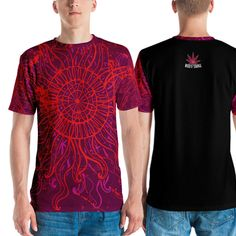 Trippy Psychedelic Pattern Men's T-shirt Psytrance Stoner Hallucinogen Weed Laptop Cases, Phone Cases, Wall Tapestries, Tapestry, Throw Blankets, Throw Pillows, Psychedelic Pattern, Bed Wall, Trance