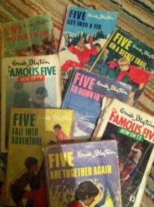 Memories are made of …. books - love that my kids are enjoying my tattered set of 21 Famous Five books