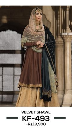 indian designer wear Nishat Linen Winter Formal Dresses Velvet Shawls & Jackets consists of embroidered heavy embellished velvet shawls, jackets, suits, shirts Pakistani Dresses Casual, Casual Formal Dresses, Pakistani Bridal Dresses, Pakistani Dress Design, Simple Dresses, Indian Dresses, Pakistani Gharara, Velvet Dress Designs, Velvet Shawl