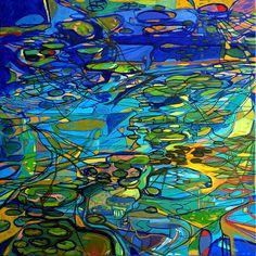 Ignacio Klindworth. Crecimiento horizontal. Serie orgánicas. Óleo sobre tela. 100x100cm. Madrid 2006. www.ignacioklindworth.es