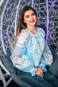 "Нарядная вышиванка: продажа, цена в Луцке. блузки и туники женские от ""Перлина Волині"" - 824824370 Modest Fashion Hijab, Frock Fashion, Fashion Dresses, Saree Blouse Neck Designs, Kurti Neck Designs, Pakistani Dresses Casual, Casual Dresses, Sleeves Designs For Dresses, Stylish Dresses For Girls"