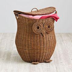 Owl Laundry Hamper Wicker Hamper Owl Bathroom Wicker