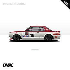 Motorsport Legends artwork new stuff up now at dirtynailsbloodyknuckles.com  Link in profile  #nissan #skyline #gtr #nismo #hakosuka #hako #nissanart #gtrart #nissangtr #kpgc10 #kpgc110 #pmcs #bosozoku #kyusha #boso #watanabe #racecar #becauseracecar #illustrator #illustration #carart #automotiveart #illest #fatlace by dirtynailsbloodyknuckles
