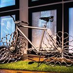 "The bicycle ""Two Nuns"" by Ron Arad. The title Two Nuns? ""All the titles are just another layer, another element in the piece. It's almost like people's names. There is always something to amuse, mainly myself. Two Nuns, comes from a dirty joke. Do you want to hear it?"" More on www.artflyer.net  #ronarad #steel #bicycle #design #royalacacademyofarts #davidshrigley #bicycledesign #artflyernet"