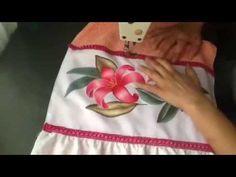 Pintura en tela como armar toalla con cenefa con cony