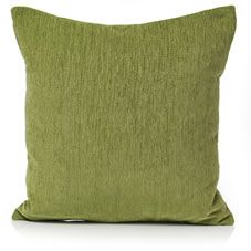 Wilko Chenile Green cushion 43cmx43cm, cover & reverse 100%Polyester, Filler 100%  Polyester. Filler shell 100% polypropylene, Professional dry  clean  only.WARNING Do not  place  on light coloured  furnishings or leather as some dye transfer may occur.  Keep away from fire. Always read  label.