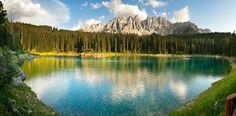 A Beautiful Lake Carezza And The Legend About Its Rainbow Colors