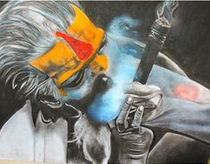 """Soft pastels & Charcoal  Check out new work on my @Behance portfolio: """"The Sadhu Series"""" http://on.be.net/1O2XbG8"""