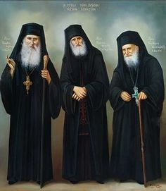 A female American professor once told an Orthodox clergyman the desire of the Pope to invite Elder Paisios and Elder Porphyrios to the Vati. Orthodox Catholic, Orthodox Christianity, Russian Orthodox, Religion, Byzantine Icons, Orthodox Icons, Religious Art, Religious Pictures, Christian Faith