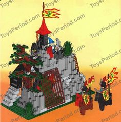 old lego sets | LEGO 6076 Dark Dragon's Den Classic Dragon Knight Castle Set at ...