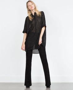 Image 1 of OVERSIZED LONGLINE SHIRT from Zara