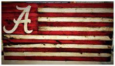 Alabama Crimson Tide Flag Crimson Tide Nation by AmericanFlagShop