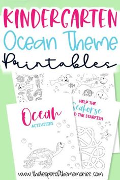 These Free Kindergarten Ocean Theme Printables are perfect for a fun ocean unit study at home with your little ones. Download yours today! #ocean #kindergarten #printables #kindergartenactivities #kindergartenworksheets Ocean Activities, Sensory Activities Toddlers, Kids Learning Activities, Preschool Themes, Preschool Kindergarten, Kindergarten Worksheets, Ocean Words, New Vocabulary Words, Ocean Unit