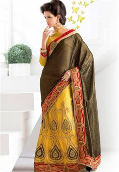 Online saree shopping India at ​sarees palace. cho​ose from a huge collecti​on of designer, ethnic, ca​sual sari, buy sarees online India for all occasions. Black Lehenga, Lehenga Style Saree, Net Lehenga, Lehenga Choli Designs, Lehenga Online Shopping, Saree Shopping, Bridal Sari, Wedding Sarees, Sarees Online India