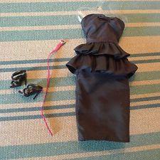 Mattel Barbie Basics Black Dress Belt & Shoes Fits Model Muse