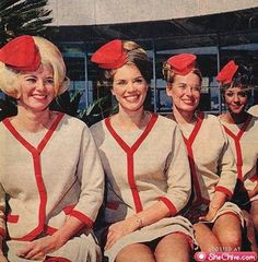 Vintage Stewardess Pictures - Flight Attendant Photos From The Past When The Airlines Only Hired The Hot Sexy Stewardess. Retro Airline, Vintage Airline, Vintage Travel, Vintage Cabin, Airline Travel, Vintage Soul, Colorful Pictures, Girl Pictures, The Cardigans