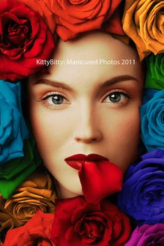 Enigmatic Rainbow Roses 31/99 by KittyBitty: Manicured Photos, via Flickr