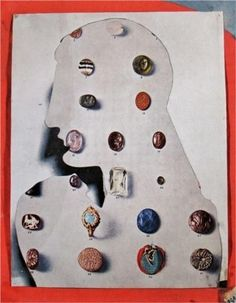 Top 10 Collage Artists: British artist Eileen Agar was one of the only female members admitted into the Surrealist group on her own artistic terms, and not simply as a model or a muse. Like Höch's, Agar's works are social critiques and show humour and irony. In 'Precious Stones', she superimposes a classical cut-out profile over a catalogue page showing antique jewellery.