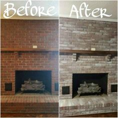 How exciting -and maybe a drop stressful- that the holidays are so close! Get your home in shape on a budget decor on a budget fireplace From Your Community: 10 Inexpensive Shortcuts to a Better Holiday Home Diy Home Decor Rustic, Inexpensive Home Decor, Cheap Home Decor, Brick Fireplace Makeover, Fireplace Mantels, Fireplace Update, Fireplace Ideas, Fireplace Mortar, Fireplace Whitewash