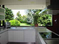 33 Most Noticeable Awesome Kitchen Window Design - homevignette House Design, Home Decor Kitchen, Kitchen Room Design, Elegant Kitchens, Minimalist Kitchen, Modern Kitchen Design, Dream Kitchens Design, Kitchen Window Design, Window Design