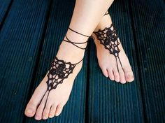 Black barefoot sandals Summer Beach Pool Dance Party by Anchro, $10.99 #footfetish #sexyfeet