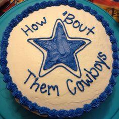 Dallas Cowboys cake - chocolate cake with vanilla buttercream frosting #lastlapbakery