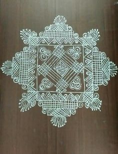 Rangoli Side Designs, Rangoli Borders, Rangoli Patterns, Rangoli Ideas, Rangoli Designs With Dots, Kolam Rangoli, Beautiful Rangoli Designs, Simple Rangoli, Alpona Design