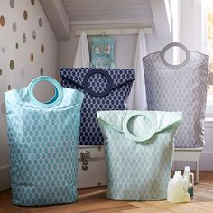 Easy Carry Laundry Bag, Ogee   PBteen