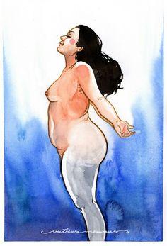 Big beautiful body. Nude art