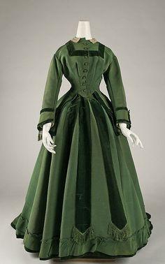Dress 1868, American. Made of silk